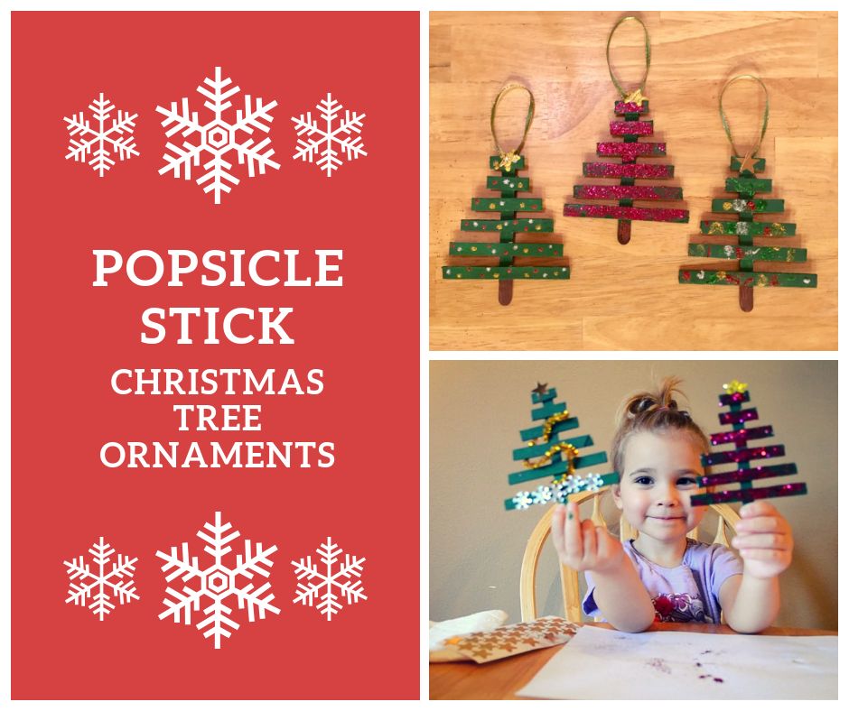 Popsicle Stick Christmas Tree Ornaments.Popsicle Stick Tree Ornaments Graceful Little Moments